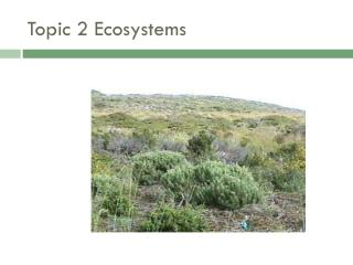 Topic 2 Ecosystems