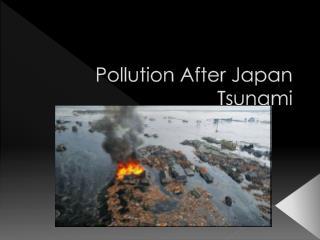 Pollution After Japan Tsunami