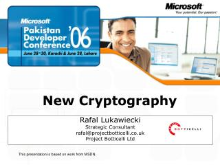 New Cryptography
