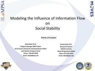 Modeling the Influence of Information Flow  on  Social Stability