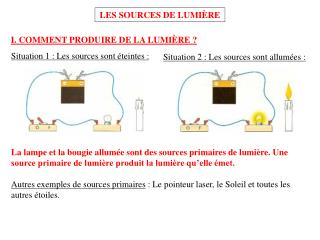 LES SOURCES DE LUMI�RE