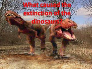What caused the extinction of the dinosaurs?
