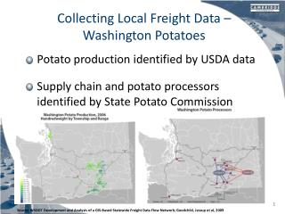 Collecting Local Freight Data � Washington Potatoes