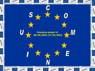 Comenius  project  of    28/09/2012 -07/10/2012