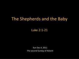 The Shepherds and the Baby