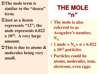 THE MOLE  n