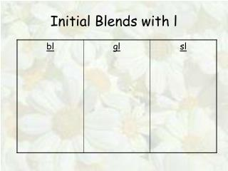 Initial Blends with l