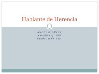 Hablante  de  Herencia