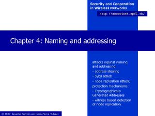 Chapter 4: Naming and addressing