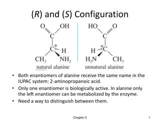 ( R ) and ( S ) Configuration