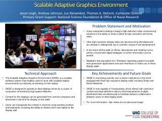 Scalable Adaptive Graphics Environment
