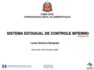SISTEMA ESTADUAL DE CONTROLE INTERNO  PROGRAMA 2823