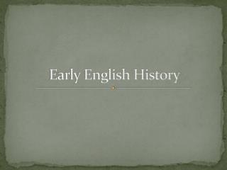 Early English History