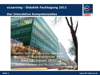 eLearning - Didaktik Fachtagung 2011 Der Interaktive Kompetenzatlas