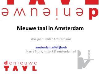 Nieuwe taal in Amsterdam