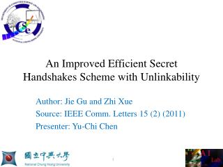 An Improved Efficient Secret Handshakes Scheme with  Unlinkability