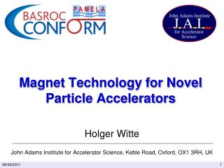 Magnet Technology for Novel Particle Accelerators