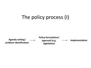 The policy process (I)