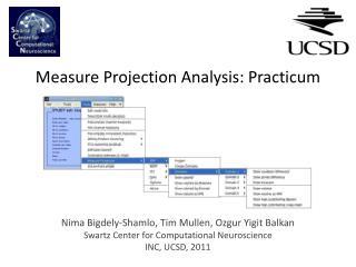 Measure Projection  Analysis: Practicum