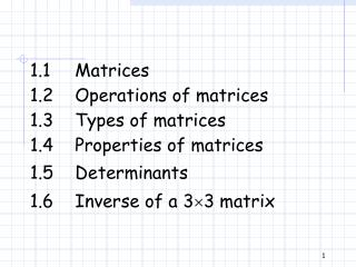1.1 Matrices