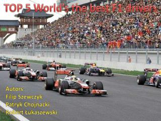 TOP 5  World's the best  F1  drivers