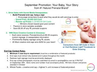 September Promotion: Your Baby, Your Story  from  #1 Natural Prenatal Brand †