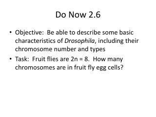 Do Now  2.6