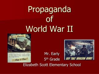 Propaganda  of  World War II