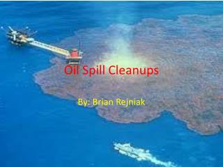Oil Spill Cleanups