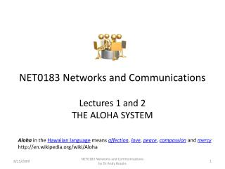 NET0183 Networks and Communications