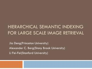Hierarchical Semantic Indexing for Large Scale Image Retrieval