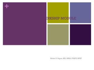 FAMILY MEDICINE CLERKSHIP MODULE ORIENTATION AY 2012-2013