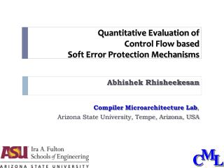 Quantitative Evaluation of Control Flow based Soft Error Protection Mechanisms