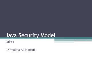 Java Security Model