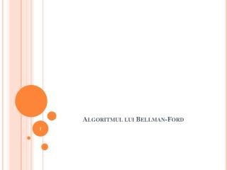 Algoritmul lui  Bellman-Ford