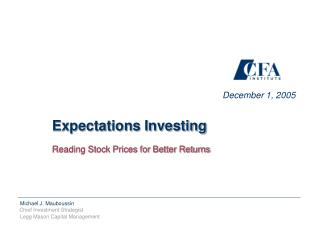 Reading Stock Prices for Better Returns