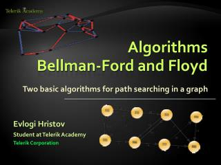 Algorithms Bellman-Ford and Floyd