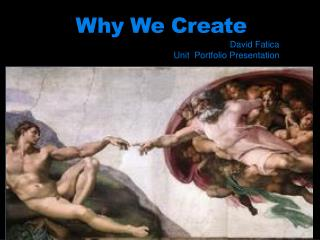 Why We Create