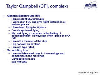 Taylor Campbell (CFI, complex)