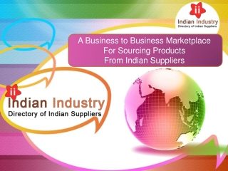 Directory of Indian Suppliers and Manufacturers