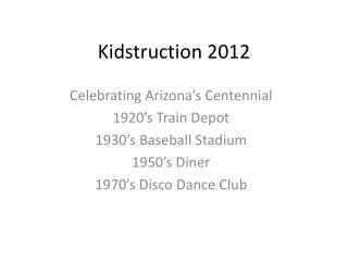 Kidstruction 2012