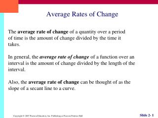 Average Rates of Change