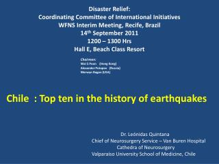 Disaster Relief: Coordinating Committee of International Initiatives