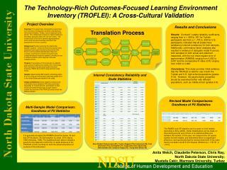 Anita Welch, Claudette Peterson, Chris Ray,  North Dakota State University;