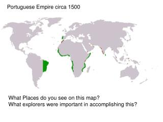 Portuguese Empire circa 1500