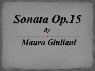 Sonata Op.15