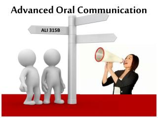 Advanced Oral Communication