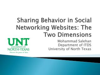 Sharing Behavior in Social Networking Websites: The Two Dimensions