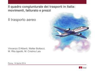 Il trasporto aereo Vincenzo D'Alberti, Walter Bottacci,  M. Rita Ippoliti, M. Cristina Lais