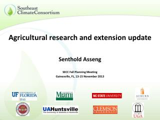 Agricultural research and extension update